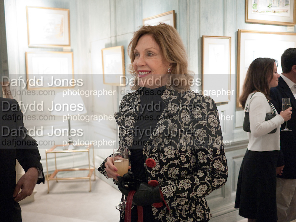 JILL SACKLER, An exhibition of watercolours by William Rayner at Mallet's, New Bond St. Party afterwards at Bellami's, bruton Place. London. 16 June 2010. .-DO NOT ARCHIVE-© Copyright Photograph by Dafydd Jones. 248 Clapham Rd. London SW9 0PZ. Tel 0207 820 0771. www.dafjones.com.