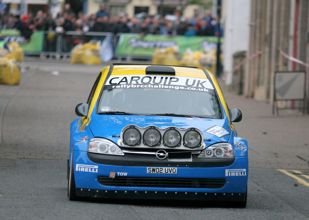 Opening ceremonial stage of the 2011 Jim Clark Rally in Duns, Scottish Borders