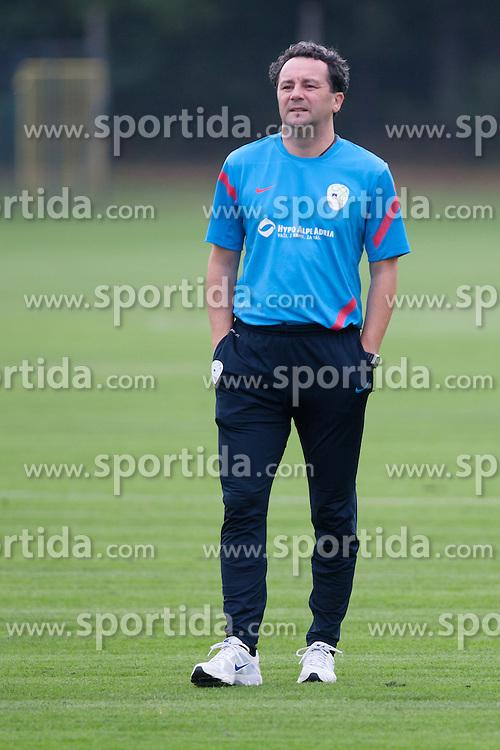 Slavisa Stojanovic, head coach of Slovenia, at first practice before WC 2014 Qualifications match against Switzerland, on September 3, 2012 in Sportni park, Kidricevo, Slovenia. (Photo by Matic Klansek Velej / Sportida.com)