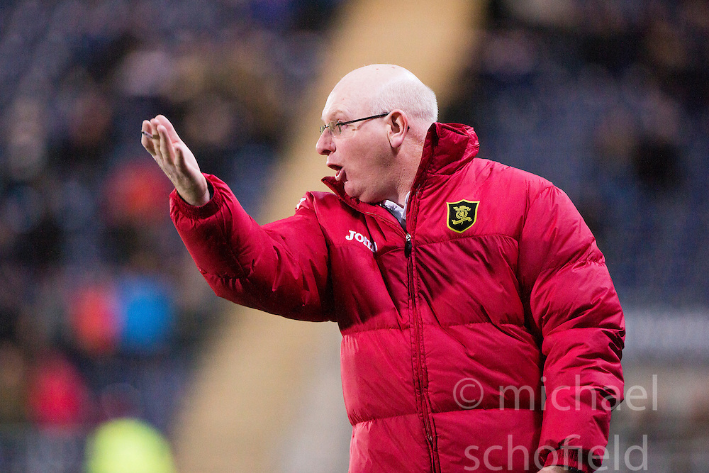 Livingston manager John McGlynn. <br /> Falkirk 0 v 0  Livingston, Scottish Championship game played 21/10/2014 at The Falkirk Stadium.
