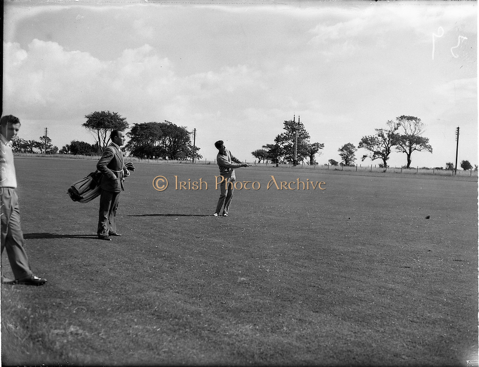 20/07/1962<br /> 07/20/1962<br /> 20 July 1962<br /> Woodbrook Irish Hospitals' Golf Tournament at Woodbrook Golf Course, Dublin. H. Middleton (Shandon Park) drives out of rough on 2nd.