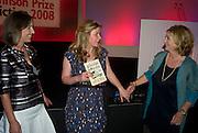 KIRSTY WARK; KATE SUMMERSCALE ;ROSIE BOYCOTT.<br />BBC Four Samuel Johnson Prize party. Souyh Bank Centre. London. 15 July 2008.  *** Local Caption *** -DO NOT ARCHIVE-© Copyright Photograph by Dafydd Jones. 248 Clapham Rd. London SW9 0PZ. Tel 0207 820 0771. www.dafjones.com.