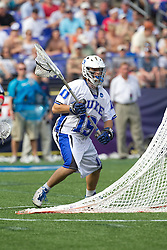 31 May 2010: Duke Blue Devils goalkeeper Dan Wigrizer (19) in a 5-6 win over the Notre Dame Fighting Irish for the NCAA Lacrosse Championship at M&T Bank Stadium in Baltimore, MD.