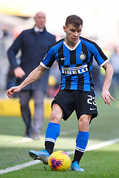 26.01.2020, Stadio Giuseppe Meazza, Mailand, ITA, Serie A, Inter Mailand vs Cagliari Calcio, 21. Runde, im Bild Nicolo Barella (F.C. Internazionale Milano) // Nicolo Barella (F.C. Internazionale Milano); during the Seria A 21th round match between Inter Mailand and Cagliari Calcio at the Stadio Giuseppe Meazza in Mailand, Italy on 2020/01/26. EXPA Pictures © 2020, PhotoCredit: EXPA/ laPresse/ Fabio Ferrari<br /> <br /> *****ATTENTION - for AUT, SUI, CRO, SLO only*****