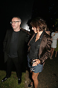 DAMIEN HIRST AND TRACEY EMIN, The Summer Party in association with Swarovski. Co-Chairs: Zaha Hadid and Dennis Hopper, Serpentine Gallery. London. 11 July 2007. <br /> -DO NOT ARCHIVE-© Copyright Photograph by Dafydd Jones. 248 Clapham Rd. London SW9 0PZ. Tel 0207 820 0771. www.dafjones.com.