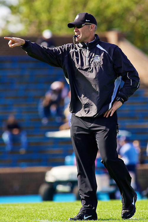 Oct 30, 2010; Hampton VA, USA; Old Domion Monarchs head coach Bobby Wilder during warm ups before the game against the Hampton Pirates. Mandatory Credit: Peter J. Casey