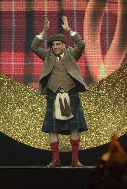 SHEFFIELD, UNITED KINGDOM - 9th June 2007: Bollywood actor Boman Irani wearing a kilt at International Indian Film Academy Awards (IIFAs) at the Sheffield Hallam Arena on June 9, 2007 in Sheffield, England.
