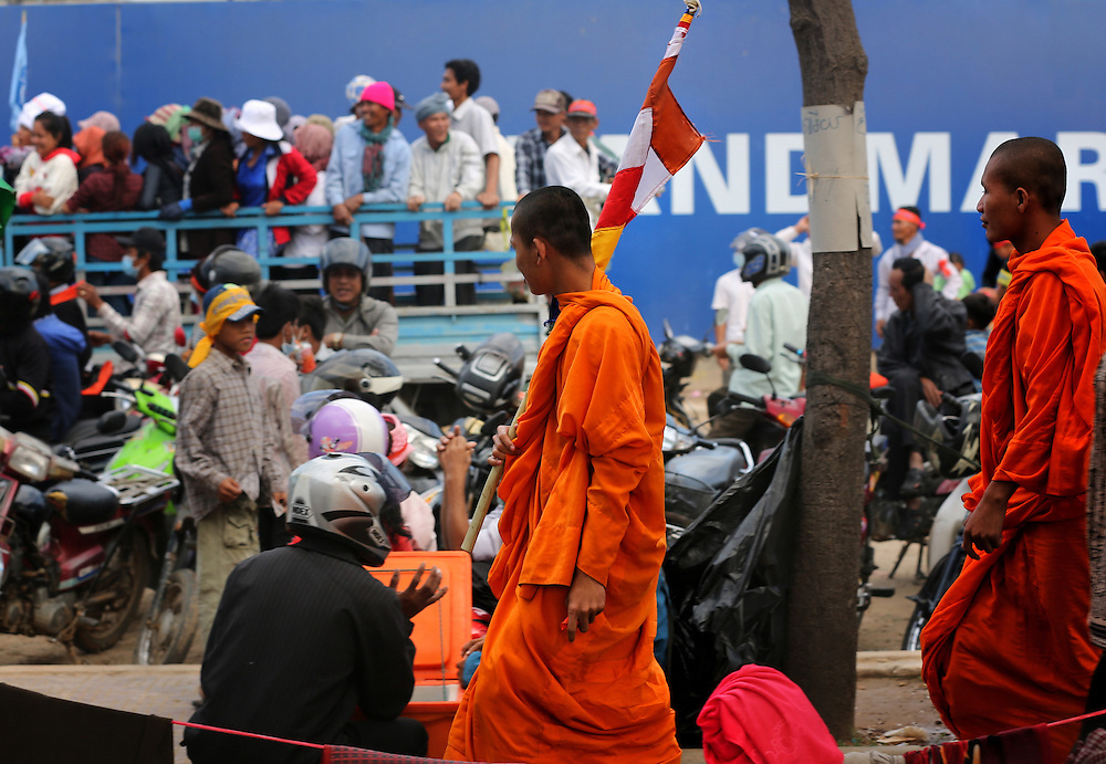 Daily protests continue in Freedom Park after Prime Minister Hun Sen on Friday stood defiant against a tide of opposition party criticism and daily protests by CNRP supporters calling for him to step down, Phnom Penh, Cambodia, Sunday, December 22,2013. Credit:SNPA / Peter Graney