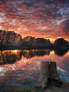 Taken an evening of late October at the Po River bank nearby Carignano in Piedmont, Italy. Mother nature presented me this time with a true gift, one of those sunsets that you can hope to see only once a year or so if you are lucky. High layers of scattered clouds, a pure, clean atmosphere and the fact that in this season the twilight lasts for long, all this elements contributed in producing such a stunning natural show.