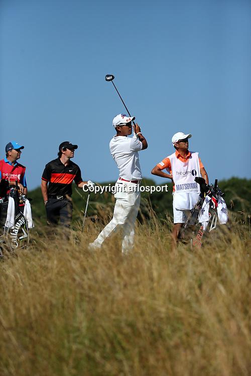 Hideki Matsuyama (JPN),<br /> JULY 19, 2013 - Golf :<br /> Hideki Matsuyama of Japan in action on 5th hole during the second round of the <br /> 142nd British Open Championship at Muirfield in Gullane, East Lothian, Scotland.<br /> (Photo by Koji Aoki/AFLO SPORT) [0008]