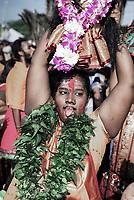 Thaipusam festival dedicated to Hindu deity Lord Murugan at Batu Caves (Sri Subramaniar Swamy Temple) in Kuala Lumpur, Malaysia