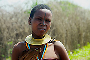 Africa, Tanzania, Lake Eyasi, young Hadza female A small tribe of hunter gatherers AKA Hadzabe