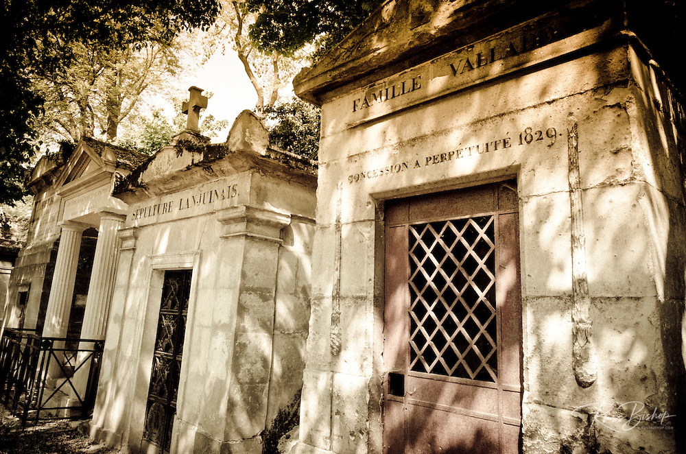 Mausoleum at Père Lachaise Cemetery, Paris, France