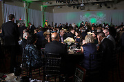 Alumni and guests get ready to eat dinner at the Alumni Awards Gala on October 6, 2017.
