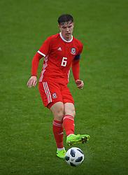 NEWPORT, WALES - Monday, October 14, 2019: Wales' captain Morgan Boyes during an Under-19's International Friendly match between Wales and Austria at Dragon Park. (Pic by David Rawcliffe/Propaganda)