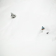 Tyler Hatcher skis the biggest storm of the season in the Mount Baker backcountry.
