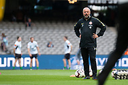 Western Sydney Wanderers assistant-coach Jean-Paul de Marigny looks on during warm up at the Hyundai A-League Round 6 soccer match between Melbourne Victory and Western Sydney Wanderers at Marvel Stadium in Melbourne.