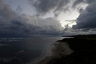 Late afternoon storm clouds over Flinders back beach,  Victoria,  Australia