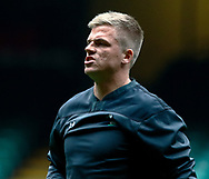 Gareth Anscombe of Wales<br /> <br /> Photographer Simon King/Replay Images<br /> <br /> Six Nations Round 3 - Captains Run - Wales v England - Saturday 22nd February 2019 - Principality Stadium - Cardiff<br /> <br /> World Copyright © Replay Images . All rights reserved. info@replayimages.co.uk - http://replayimages.co.uk