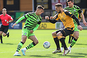 Forest Green Rovers Taylor Allen(12) on the ball during the EFL Sky Bet League 2 match between Cambridge United and Forest Green Rovers at the Cambs Glass Stadium, Cambridge, England on 7 September 2019.