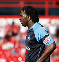 Photo: Steve Bond.<br /> Walsall v Swansea City. Coca Cola League 1. 25/08/2007. Jason Scotland at the end of a scorching afternoon