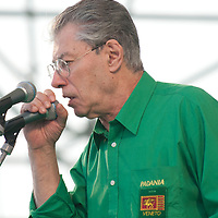 """Umberto Bossi addresses participants during today Lega Nord rally in Venice under the slogan """"Prima Il Nord""""  (North First)  the Lega Nord with its new Secretary Roberto Maroni are trying to go back to their  1996 meeting in Venice with its original federalist credo"""