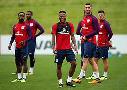 England's Raheem Sterling laughs - Mandatory by-line: Matt McNulty/JMP - 29/08/2017 - FOOTBALL - St George's Park National Football Centre - Burton-upon-Trent, England - England Training and Press Conference