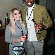 London,England,UK. 14th May 2017. Amy Christophers,Ben Ofoedu attends the after party of the BBL Play-Off Finals also fundraising for Hoops Aid 2017 but also a major fundraising opportunity for the Sports Traider Charity at London's O2 Arena, UK. by See Li