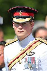 Prince Harry arriving at a New Zealand Commemoration at the Cassino Commonwealth War Cemetery in Italy as part of the 70th anniversary commemorations of the Battle of Monte Cassino,  Sunday, 18th May 2014. Picture by Stephen Lock/ i-Images