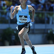 Grant Fisher, USA, winning the One Mile Men Boys dream mile during the Diamond League Adidas Grand Prix at Icahn Stadium, Randall's Island, Manhattan, New York, USA. 13th June 2015. Photo Tim Clayton