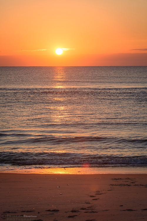 Brilliant sunrise, Assateague Island National Seashore, Maryland, USA
