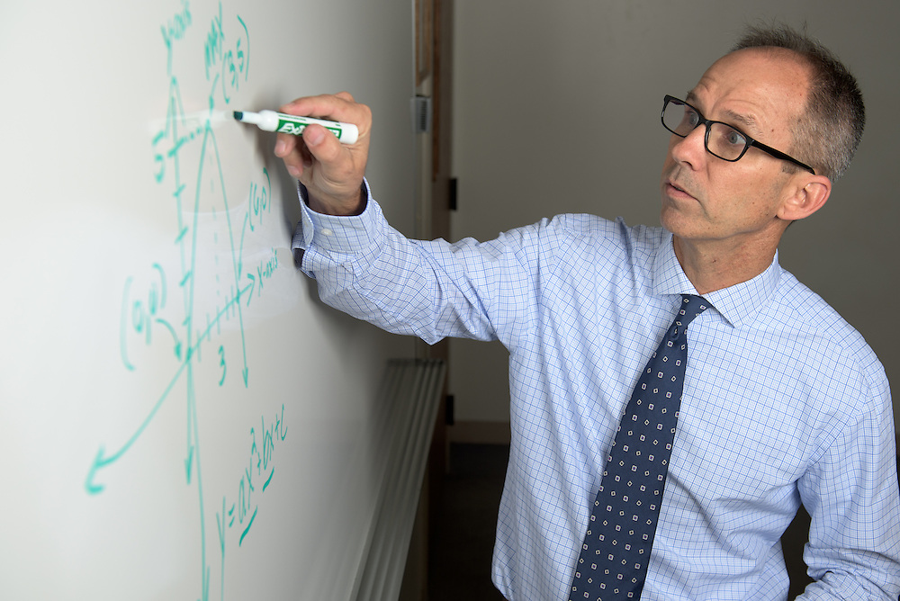Professor Michael Lafreniere poses for a portrait at Ohio University Southern Campus in Ironton, Ohio on September 29, 2016.