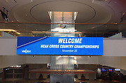 General overall view of NCAA Cross Country Championships sign at the Louisville International Airport in Louisville, Ky. on Friday, Nov. 17, 2017.