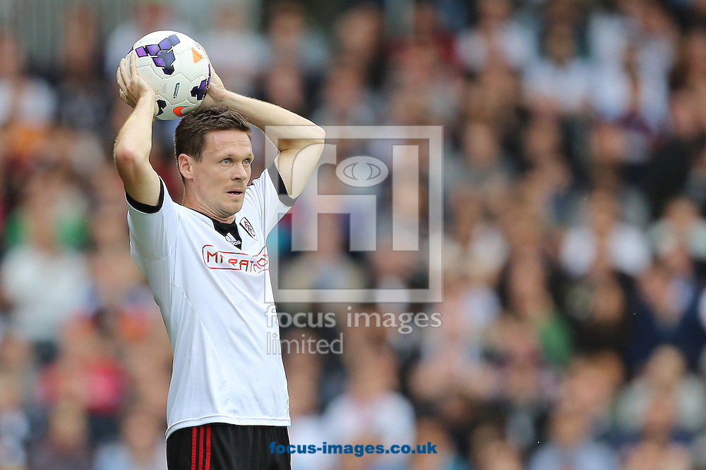 Picture by Richard Calver/Focus Images Ltd +447792 981244<br /> 05/10/2013<br /> Sascha Riether of Fulham during the Barclays Premier League match against Stoke City at Craven Cottage, London.