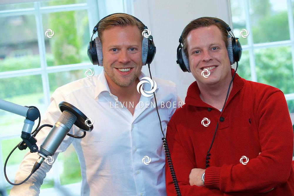 NAARDEN - Nicolas Ruis en Tim Klijn beginnen een nieuw radio programma 'Tim in de Morgen' op Radio 10. FOTO LEVIN DEN BOER - KWALITEITFOTO.NL