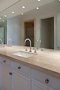 Bathroom interior of empty luxurious villa