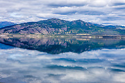 North America, Canada, Yukon Territory, Destruction Bay, Kluane National Park and Reserve.  Clouds over Kluane Lake