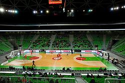 Arena Stozice during basketball match between KK Cedevita Olimpija and KK Krka in 1st Round of Nova KBM Champions Basketball League, on February 26, 2020 in Arena Stozice, Ljubljana, Slovenia. Photo by Vid Ponikvar / Sportida