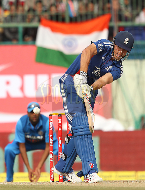 Alastair Cook of England during the 5th Airtel ODI between India and England held at the HPCA Stadium in Dharamsala, Himachal Pradesh, India on the 27th January 2013..Photo by Ron Gaunt/BCCI/SPORTZPICS ..Use of this image is subject to the terms and conditions as outlined by the BCCI. These terms can be found by following this link:..http://www.sportzpics.co.za/image/I0000SoRagM2cIEc