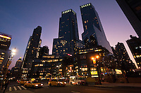 skyscrapers around Columbus Circle - New York City in October 2008