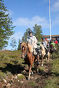 Tourists from all over the world go riding in the mountains with Dyrhaug Ridesenter.
