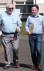 The SNP were campaigning in Livingston today ahead of the EU elections on 23rd May 2019.<br /> <br /> Alyn Smith MEP was joined by Hannah Bardell MP and volunteers going round talking to local households.<br /> <br /> Pictured: Election agent Greg McCarra and Alyn Smith MEP<br /> <br /> Alex Todd | Edinburgh Elite media