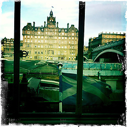 Balmoral Hotel, Edinburgh..Hipstamatic images taken on an Apple iPhone..©Michael Schofield.
