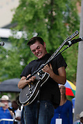 "Will Tucker plays at a tribute for blues musician B.B. King is held in W.C. Handy Park Wednesday, May 27, 2015, in Memphis, Tenn. King died May 14 in Las Vegas. He was 89. W.C. Handy is known as the ""Father of the Blues."""