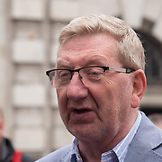 """Len McCluskey is a General Secretary of Unite the Union join the TUC march in London for """"A new deal for working people"""" on 12 May 2018, London, UK."""