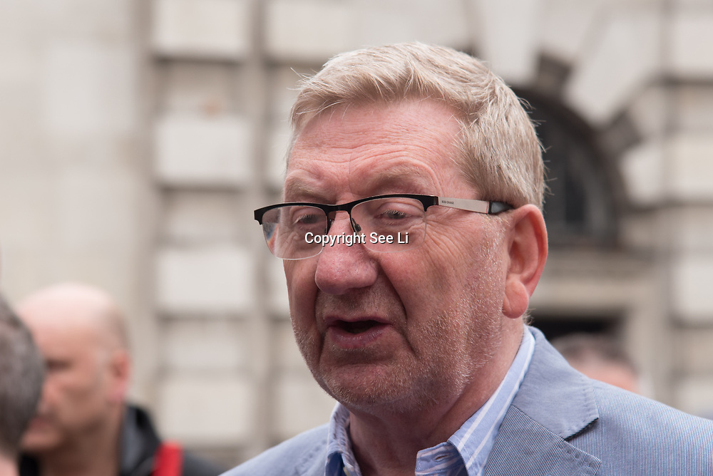 "Len McCluskey is a General Secretary of Unite the Union join the TUC march in London for ""A new deal for working people"" on 12 May 2018, London, UK."