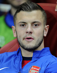 Arsenal's Jack Wilshere starts from the bench - Photo mandatory by-line: Joe Meredith/JMP - Tel: Mobile: 07966 386802 01/10/2013 - SPORT - FOOTBALL - Emirates Stadium - London - Arsenal V Napoli - Champions League - Group F