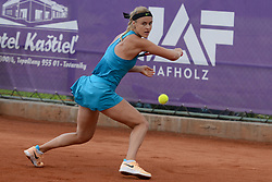 May 16, 2018 - Trnava, Slovakia - ANNA KAROLINA SCHMIEDLOVA of Slovakia in her first round match in the Empire Slovak Open tennis tournament in Trnava Slovakia (Credit Image: © Christopher Levy via ZUMA Wire)