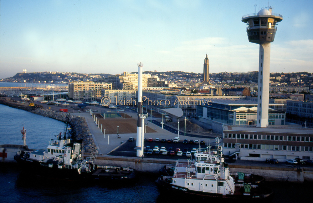 France, Normandy.  Le Havre.  Harbour at dawn.