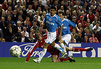 Photo: Paul Thomas.<br /> Liverpool v PSV Eindhoven. UEFA Champions League. Quarter Final, 2nd Leg. 11/04/2007.<br /> <br /> Peter Crouch (Red) of Liverpool shoots.